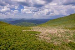 Montañas de Bieszczady en Polonia Fotografía de archivo libre de regalías
