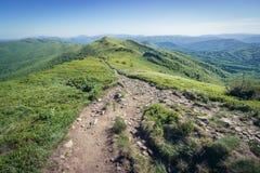 Montañas de Bieszczady en Polonia Imágenes de archivo libres de regalías
