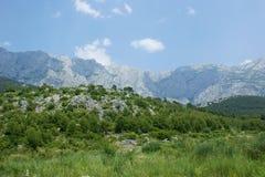 Montañas de Biokovo Fotos de archivo