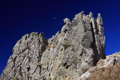 Montañas de Córcega, rastro GR20 Imágenes de archivo libres de regalías