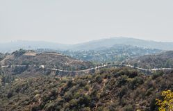 Montañas de California meridional alrededor de la ciudad Fotografía de archivo libre de regalías