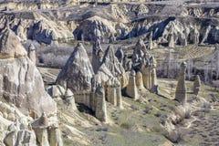 Montañas de Capadocia Fotos de archivo