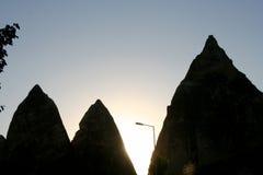 Montañas de Cappadocia en Goreme fotografía de archivo libre de regalías