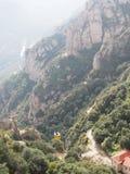 Teleférico Montserrat. Montañas de Cataluña Stock Photos