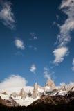 Montañas de Chalten y de Fitz Roy Fotos de archivo