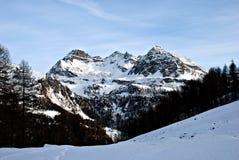Montañas de Champoluc Imágenes de archivo libres de regalías