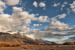 Montañas de Chilkat en caída Imagenes de archivo