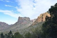 Montañas de Chisos del parque nacional de la curva grande, Tejas fotografía de archivo