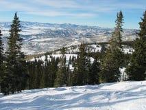Montañas de Colorado en el invierno Foto de archivo