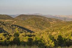 Montañas de Corbieres, Francia foto de archivo libre de regalías