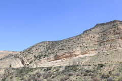 Montañas de Dana Nature Reserve, Jordania Foto de archivo libre de regalías