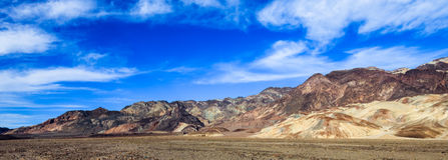 Montañas de Death Valley Imágenes de archivo libres de regalías