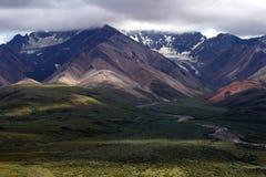 Montañas de Denali Imagen de archivo libre de regalías