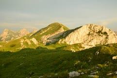 Montañas de Dinaric en Montenegro Fotos de archivo libres de regalías