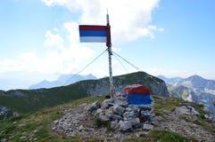 Montañas de Dinaric, Maglic 2 386 m n M top del Bosnia y Herzegovina Imagen de archivo libre de regalías