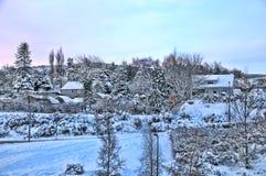 Montañas de Dublín bajo la nieve Imagen de archivo