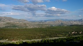 Montañas de Dubrovnik almacen de video