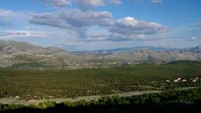 Montañas de Dubrovnik almacen de metraje de vídeo