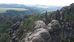 Montañas de Elbsandstein fotos de archivo libres de regalías