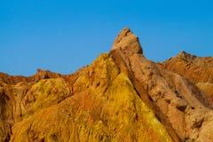 Montañas de Eroted y valle rojos y amarillos de la formación de roca imagen de archivo