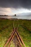 Montañas de Escocia del castillo del acosador Foto de archivo