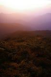 Montañas de Fanjingshan en la niebla de la mañana Imágenes de archivo libres de regalías