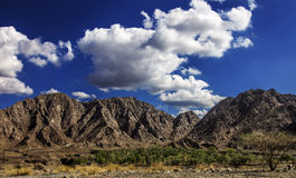 Montañas de Fudjairah Foto de archivo
