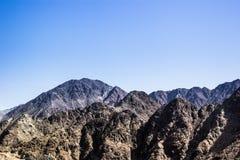 Montañas de Fudjairah Imagenes de archivo