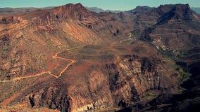 Montañas de Gran Canaria almacen de metraje de vídeo