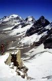 Montañas de Gran Paradiso Foto de archivo libre de regalías