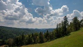 Montañas de Jaworzyna Krynicka en Polonia Fotos de archivo libres de regalías