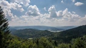Montañas de Jaworzyna Krynicka en Polonia Imagenes de archivo