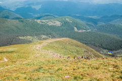 Montañas de Karpathian Foto de archivo