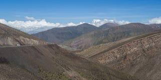 Montañas de la Argentina del noroeste Fotografía de archivo libre de regalías