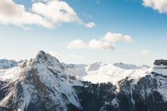 Montañas de la dolomía, Val di Fassa, Italia Imagen de archivo libre de regalías
