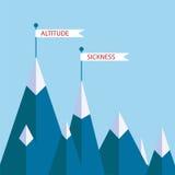 Montañas de la enfermedad de altitud ilustración del vector