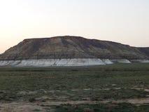 Montañas de la estepa Foto de archivo libre de regalías