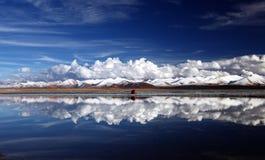 Montañas de la nieve Fotografía de archivo