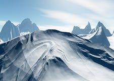 Montañas de la nieve Imagen de archivo libre de regalías