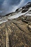 Montañas de la nieve foto de archivo