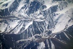 Montañas de la nieve fotos de archivo