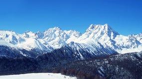 Montañas de la nieve de Baimang (Baima) Fotos de archivo