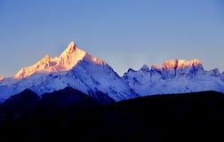 Montañas de la nieve de Meili Imagen de archivo libre de regalías