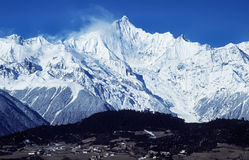 Montañas de la nieve de Meili Foto de archivo