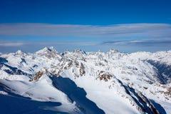 Montañas de la nieve en Austria Imágenes de archivo libres de regalías
