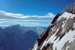 Montañas de la nieve en Austria Fotos de archivo libres de regalías