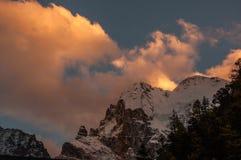 Montañas de la nieve en Szechwan Fotos de archivo