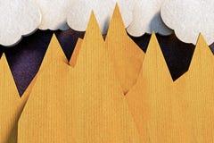 Montañas de la papiroflexia Foto de archivo
