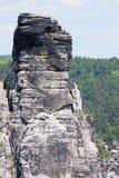 Montañas de la piedra arenisca de Elbe imagenes de archivo