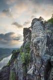Montañas de la piedra arenisca en Sajonia Fotos de archivo libres de regalías